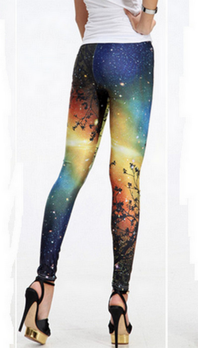 Galaxy Sunset Tree Starry Leggings