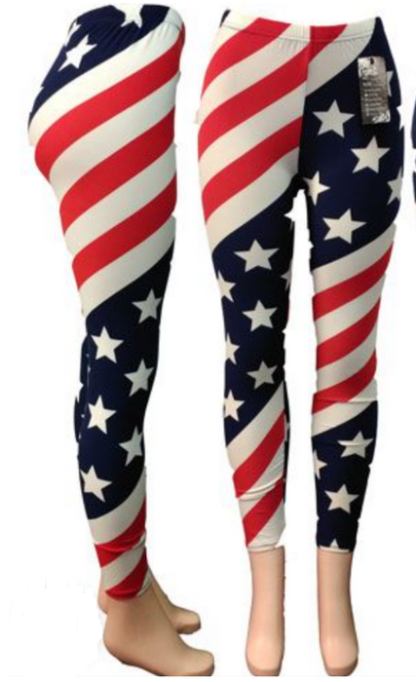 Extremely American Flag Leggings