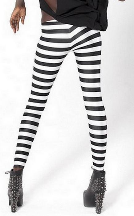 Geometry Stripe Printing Leggings