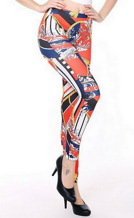 Golden Cord Tattoo Printing Leggings