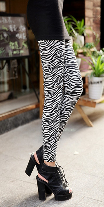 Zebra Printed leggings