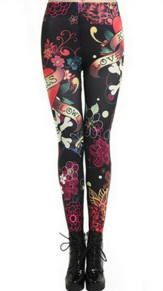 Black Love Tattoo Leggings