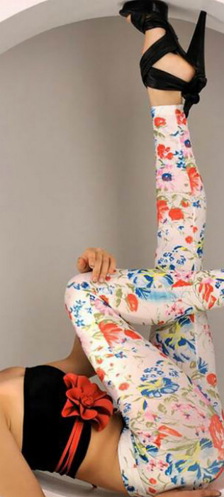 Full Of Floral Pattern Leggings