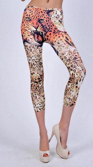 Tiger Tattoo Capri Leggings