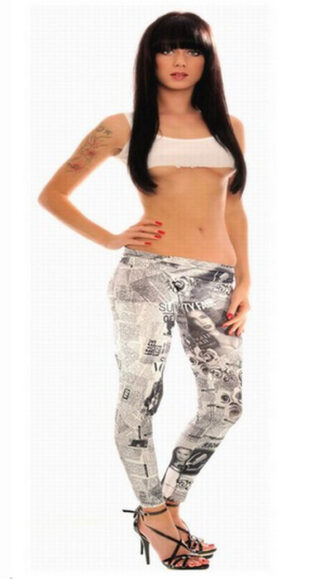 Women Graffiti Tattoo Leggings