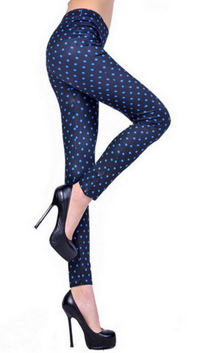 Women's Fashion Small Dots Leggings