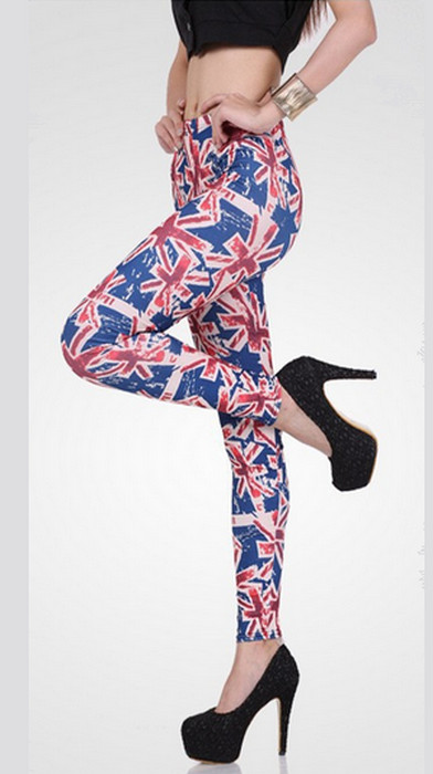 Art Sexy UK Flag Print Leggings