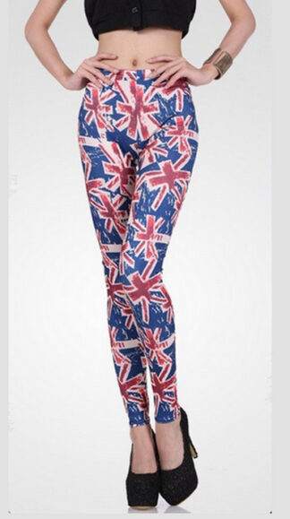 Art Sexy UK Flag Print Leggings