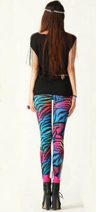 Blue Zebra Printing Leggings