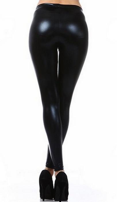 Celebrity Metallic Faux Leather Leggings