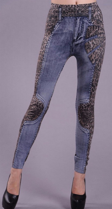 Jeans Look Leopard Leggings