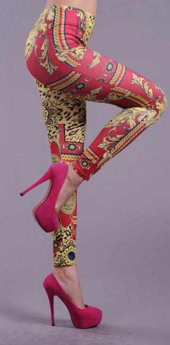 Geometry Colored Printed Leggings