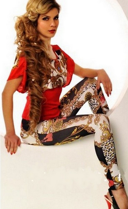 Gold and Black Chain Leggings