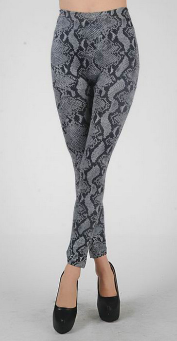 Grey Animal Print Leggings