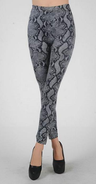 Grey Animal Print Leggings