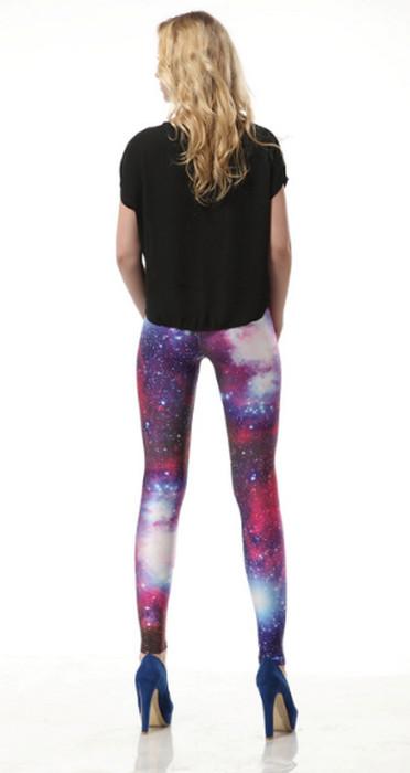 Red Star Shiny Galaxy Cosmic leggings