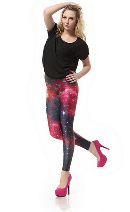 Galaxy Red Planet Leggings