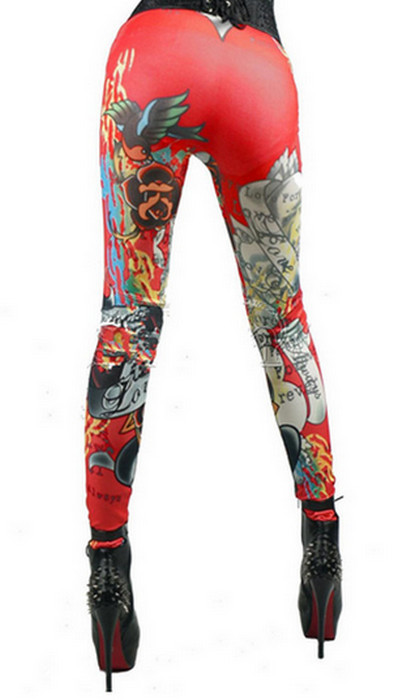 Forever Love Red Hip Hop Leggings