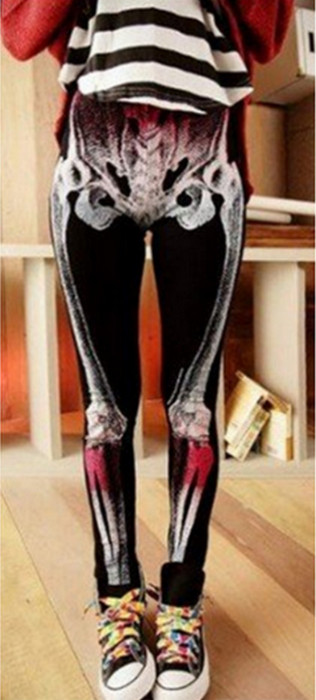 X-Ray Skull Skeleton Leggings