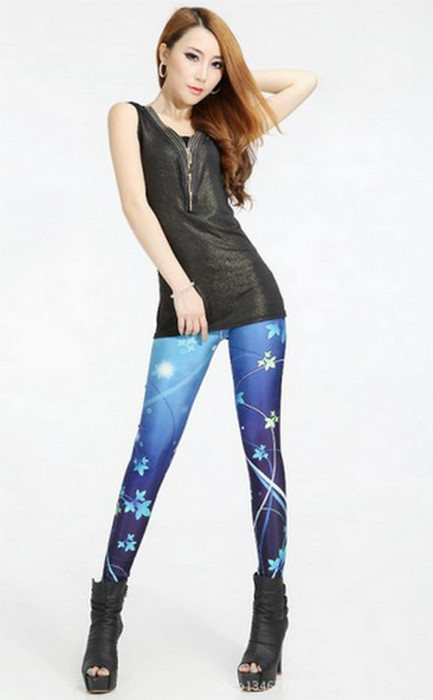 Galaxy Butterfly Flowers Leggings