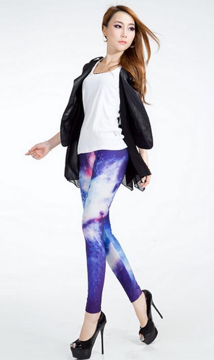 Galaxy Cosmic Space Printed Leggings