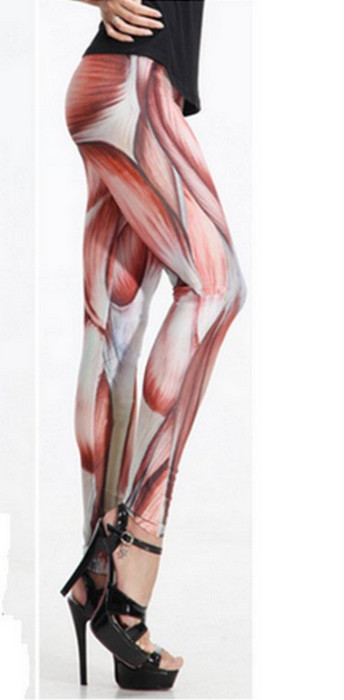 Galaxy Red Muscle Leggings