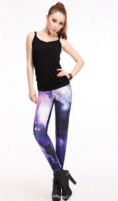 Galaxy Noble Purple Leggings