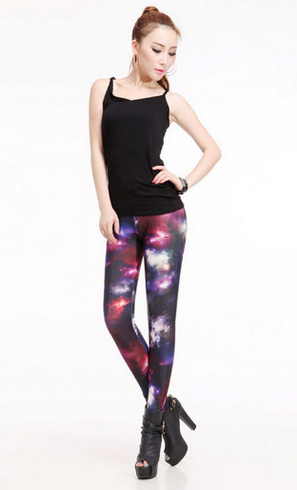 Galaxy Cosmic Beauty Printed Leggings