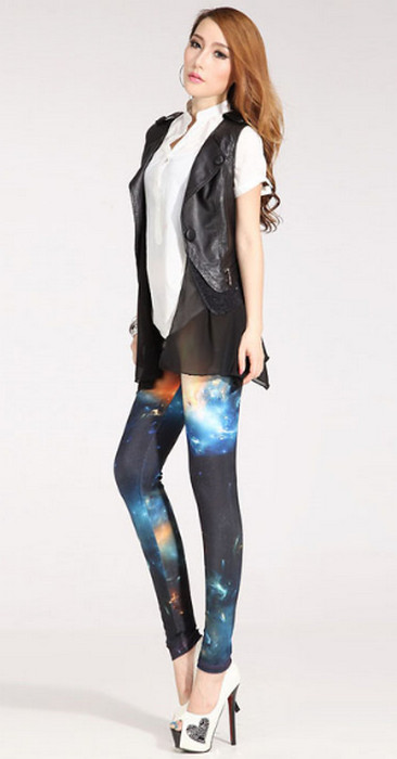 Newest Galaxy Stylish Print Leggings