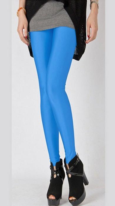 Turkos Fashion Celebrity Style Metallic Shiny Leggings