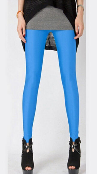 Turkos Fashion Celebrity Style Metallic Shiny Leggings
