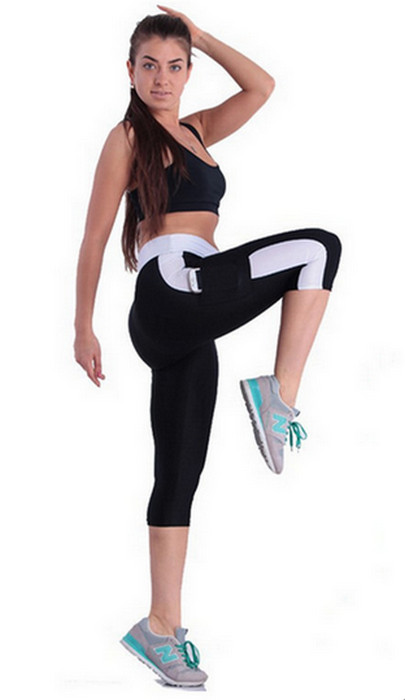 Black And White Yoga Sports Leggings