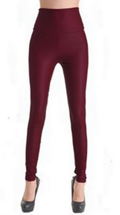 Red Wine Faux Leather Leggings