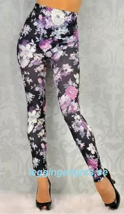 Graffiti Printing Slim Jeggings
