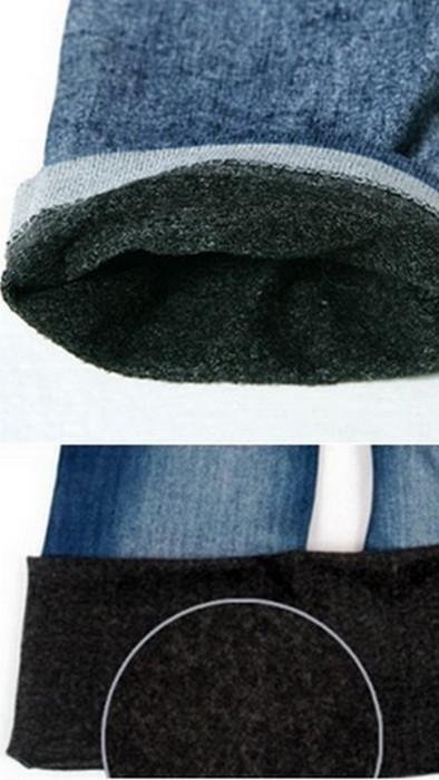 Höst Vinter Seamless Jeans Jeggings Leggings