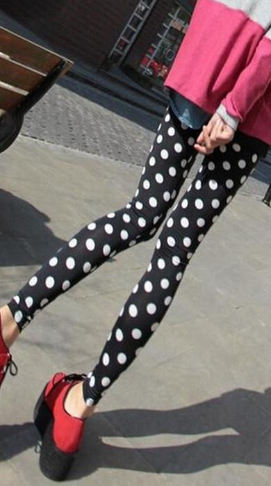 Retro Tunn Polka Dots Leggings