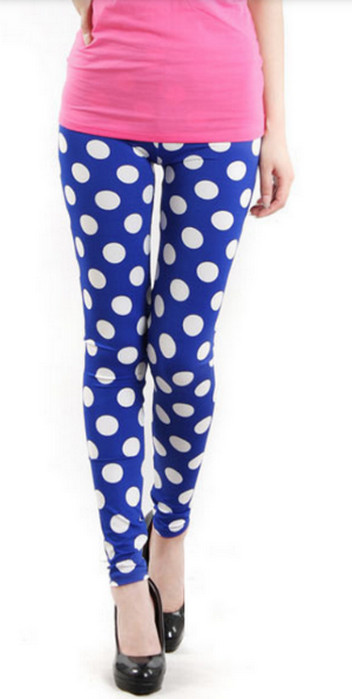 Blue Polka Dot Leggings