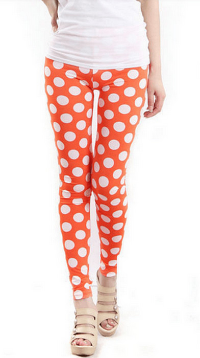 Orange Polka Dot Leggings