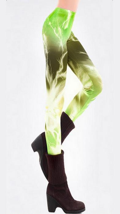 Aurora Lighting Green Galaxy Leggings