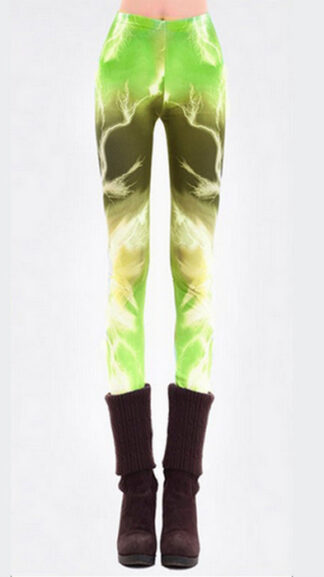 Aurora Lighting Green Galaxy Leggings