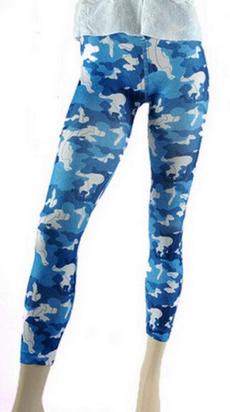 Blue Camouflage Legging