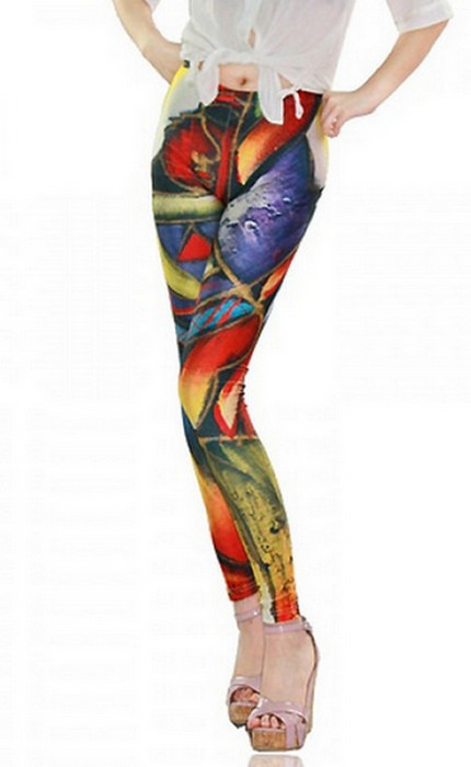 Geometry Printed Galaxy Leggings