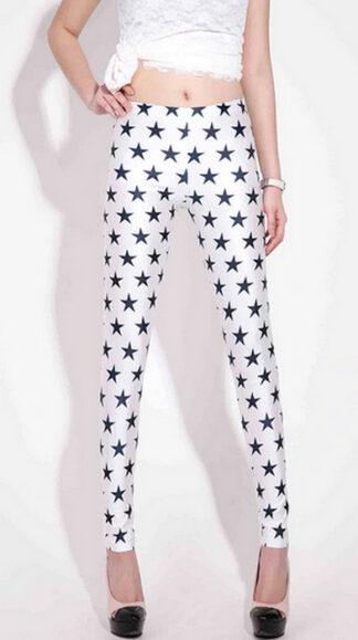 Black Stars Galaxy Leggings