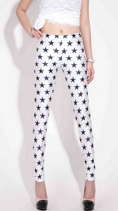 Black Stars Galaxy Leggings
