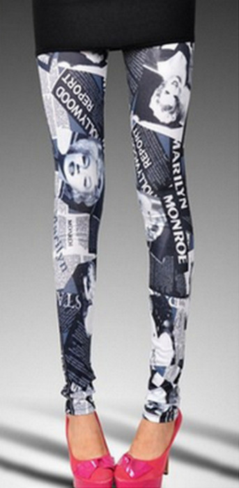 Monroe tattoo Printing Leggings