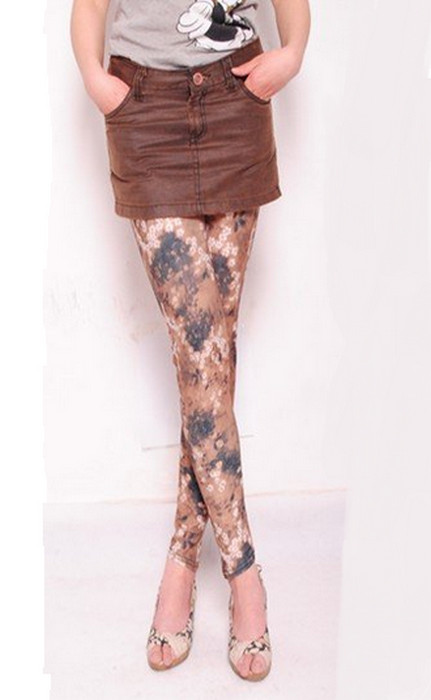 Geometry flower Printing Leggings