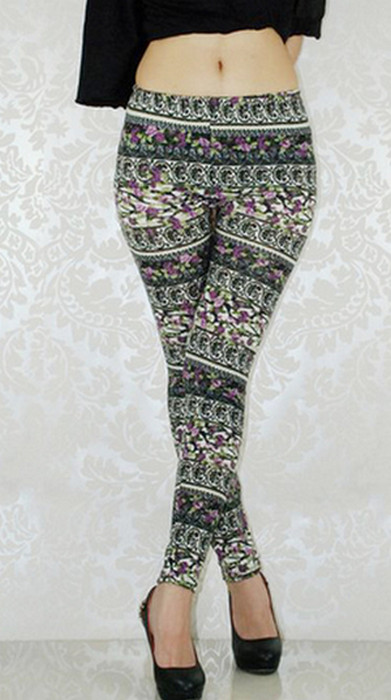 Multicolor Pattern Leggings