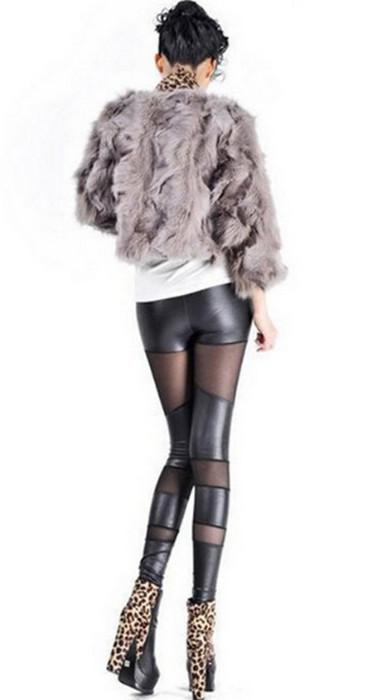 Metallic Leather Look Leggings