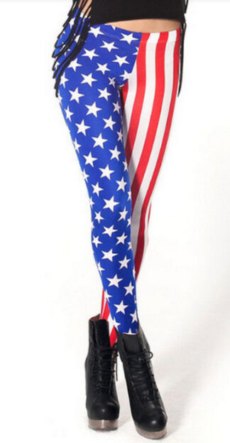Womens American Flag Leggings