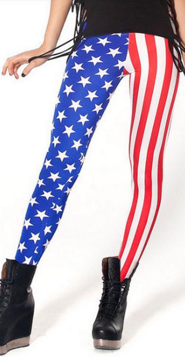 Womens American Flag Leggings